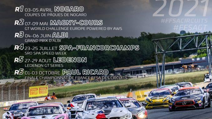 Circuit Ledenon Calendrier 2021 Le Championnat de France FFSA GT 2021 se dévoile déjà ! – MFE Live
